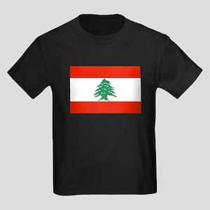Flag of Lebanon Kids Dark T-Shirt