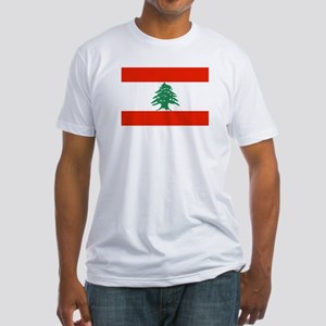 Flag of Lebanon Fitted T-Shirt