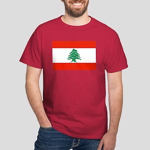 Flag of Lebanon Dark T-Shirt