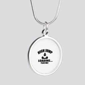 High Jump Loading Please Wai Silver Round Necklace