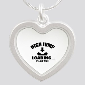 High Jump Loading Please Wai Silver Heart Necklace