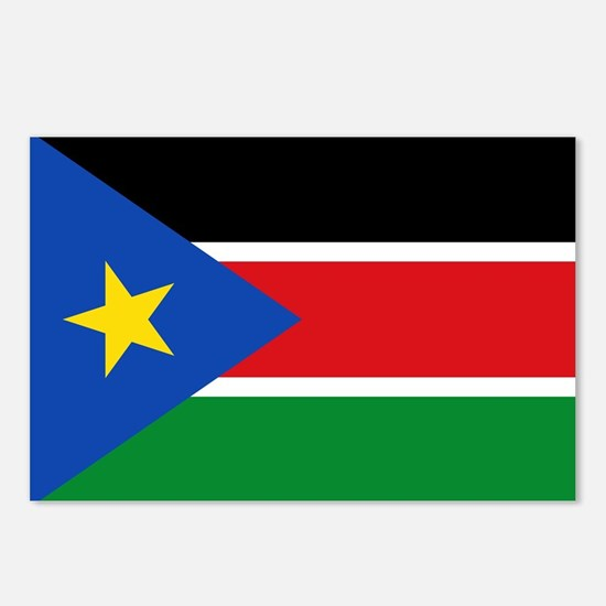 South Sudan Flag Postcards (Package of 8)