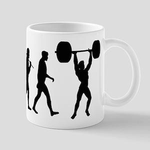 Evolution Of Weightlifting Mug Mugs