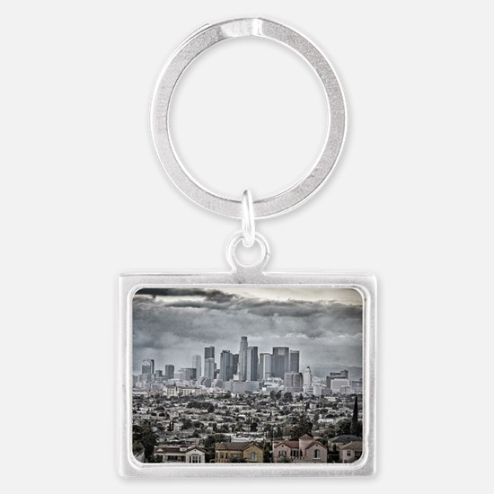 Los Angeles, East View Landscape Keychain