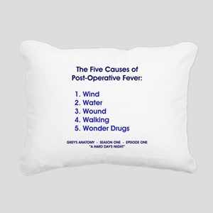 THE 5 CAUSES OF.. Rectangular Canvas Pillow
