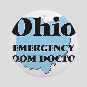 Ohio Emergency Room Doctor Round Ornament