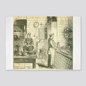 French Victorian Era Kitchen 5'x7'Area Rug