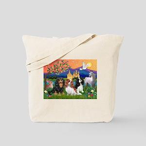 FANTASY / 3 Cavaliers Tote Bag