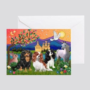 FANTASY / 3 Cavaliers Greeting Card