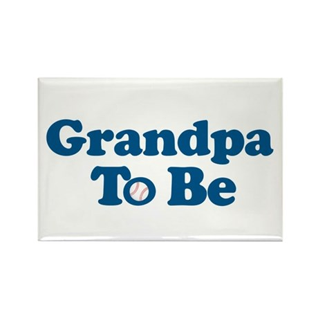 grandpa to be baseball Rectangle Magnet