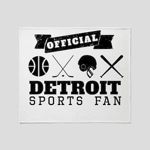 Official Detroit Sports Fan Throw Blanket