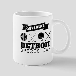 Official Detroit Sports Fan Mugs