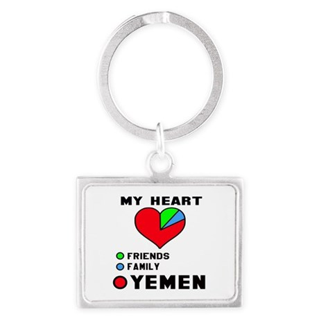 My Heart Friends, Family and Ye Landscape Keychain