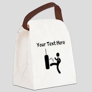 Kickboxing Bag Canvas Lunch Bag