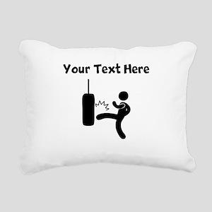 Kickboxing Bag Rectangular Canvas Pillow