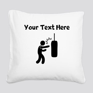 Punching Bag Square Canvas Pillow