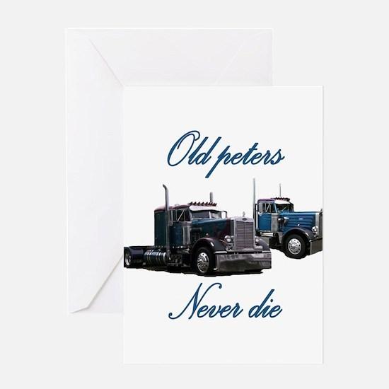 Old Peter Never Die Greeting Card