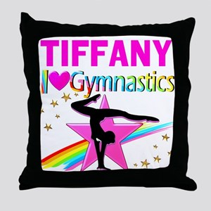 FIERCE GYMNAST Throw Pillow
