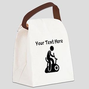 Stationary Bike Canvas Lunch Bag