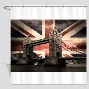 Union Jack London Shower Curtain