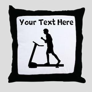 Treadmill Runner Throw Pillow