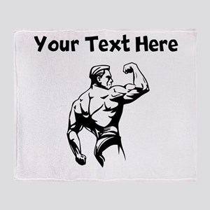Bodybuilder Throw Blanket