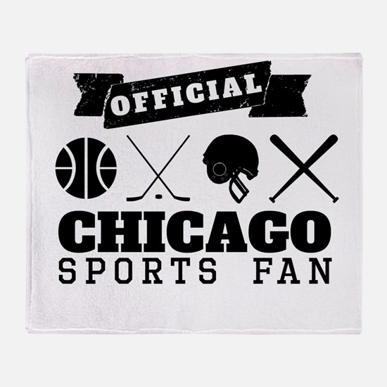 Official Chicago Sports Fan Throw Blanket