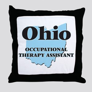 Ohio Occupational Therapy Assistant Throw Pillow