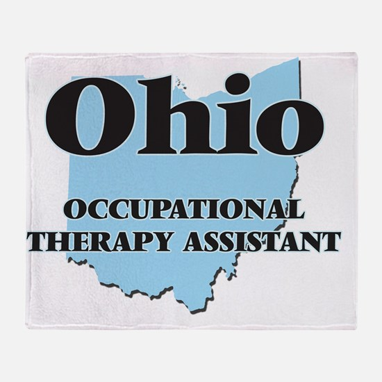 Ohio Occupational Therapy Assistant Throw Blanket
