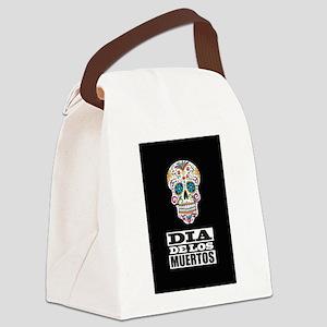 Dia De Los Muertos Canvas Lunch Bag