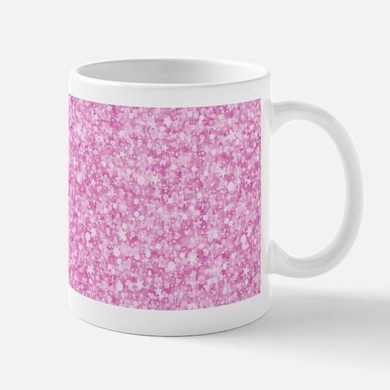 Elegant Pink Glitter Mugs