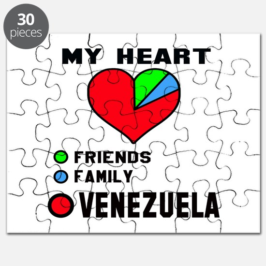 My Heart Friends, Family and Venezuela Puzzle