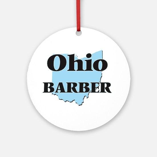 Ohio Barber Round Ornament