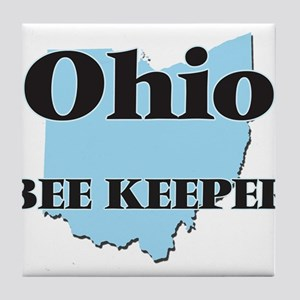 Ohio Bee Keeper Tile Coaster