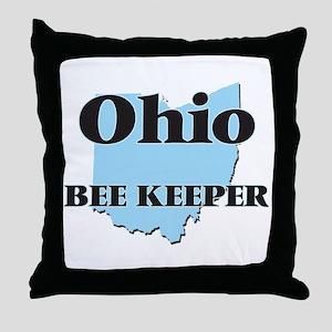 Ohio Bee Keeper Throw Pillow