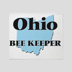 Ohio Bee Keeper Throw Blanket