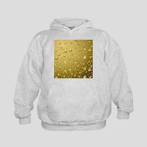 Metallic Gold Abstract Rain Drops Kids Hoodie