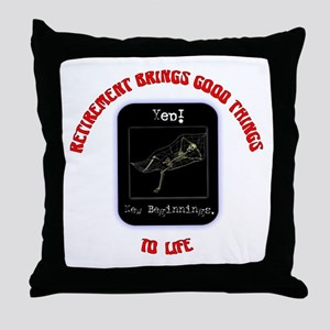 Yep! New Beginnings.:-) Throw Pillow