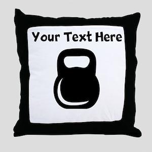 Kettle Bell Throw Pillow