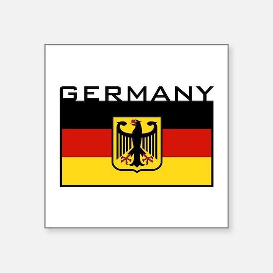 "Funny Germany Square Sticker 3"" x 3"""