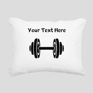 Dumbbell Rectangular Canvas Pillow