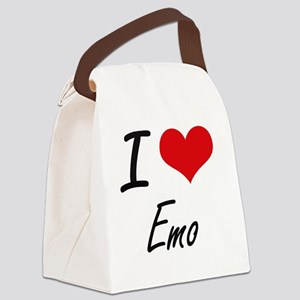 I Love EMO Canvas Lunch Bag