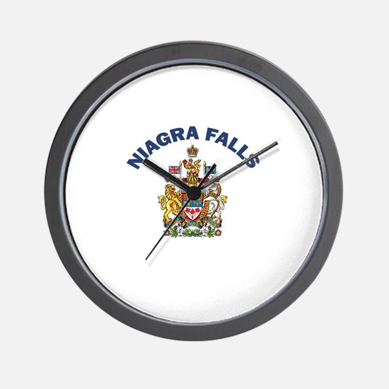 Niagra Falls Coat of Arms Wall Clock