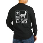 Eat Sleep Alpaca Long Sleeve T-Shirt