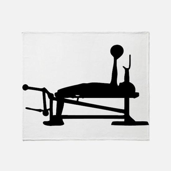 Bench Press Throw Blanket