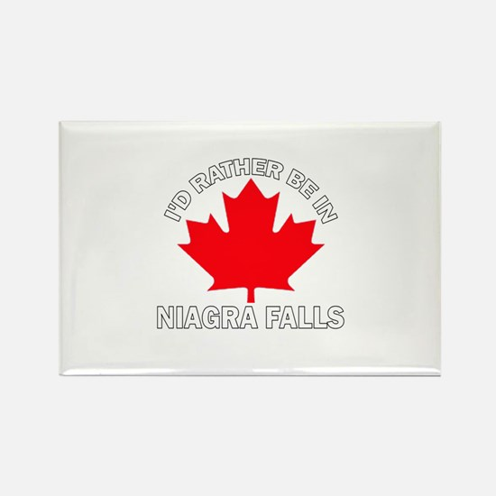I'd Rather Be in Niagra Falls Rectangle Magnet