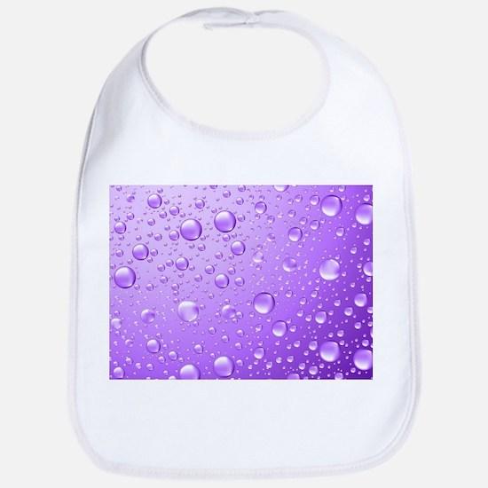 Metallic Purple Abstract Rain Drops Bib