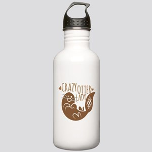 Crazy Otter Lady Stainless Water Bottle 1.0L