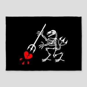 ST6 Pirate Flag 5'x7'Area Rug