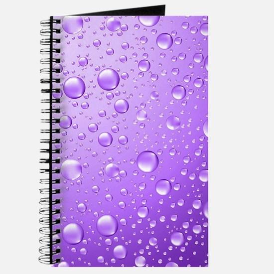 Metallic Purple Abstract Rain Drops Journal